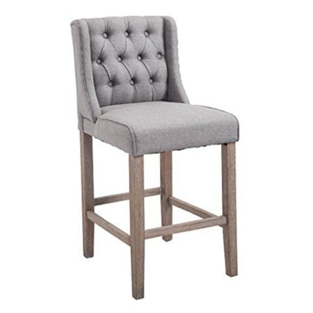 Homcom Tufted Counter Height Bar Stool Set Of 2 Walmartcom
