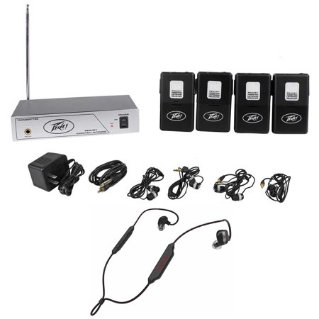 Earbud System (Peavey ALS 72.1 Mhz Assisted Listening System With 4 Receivers+Fender)