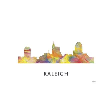 Raleigh North Carolina Skyline Print Wall Art By Marlene - Party City Raleigh North Carolina