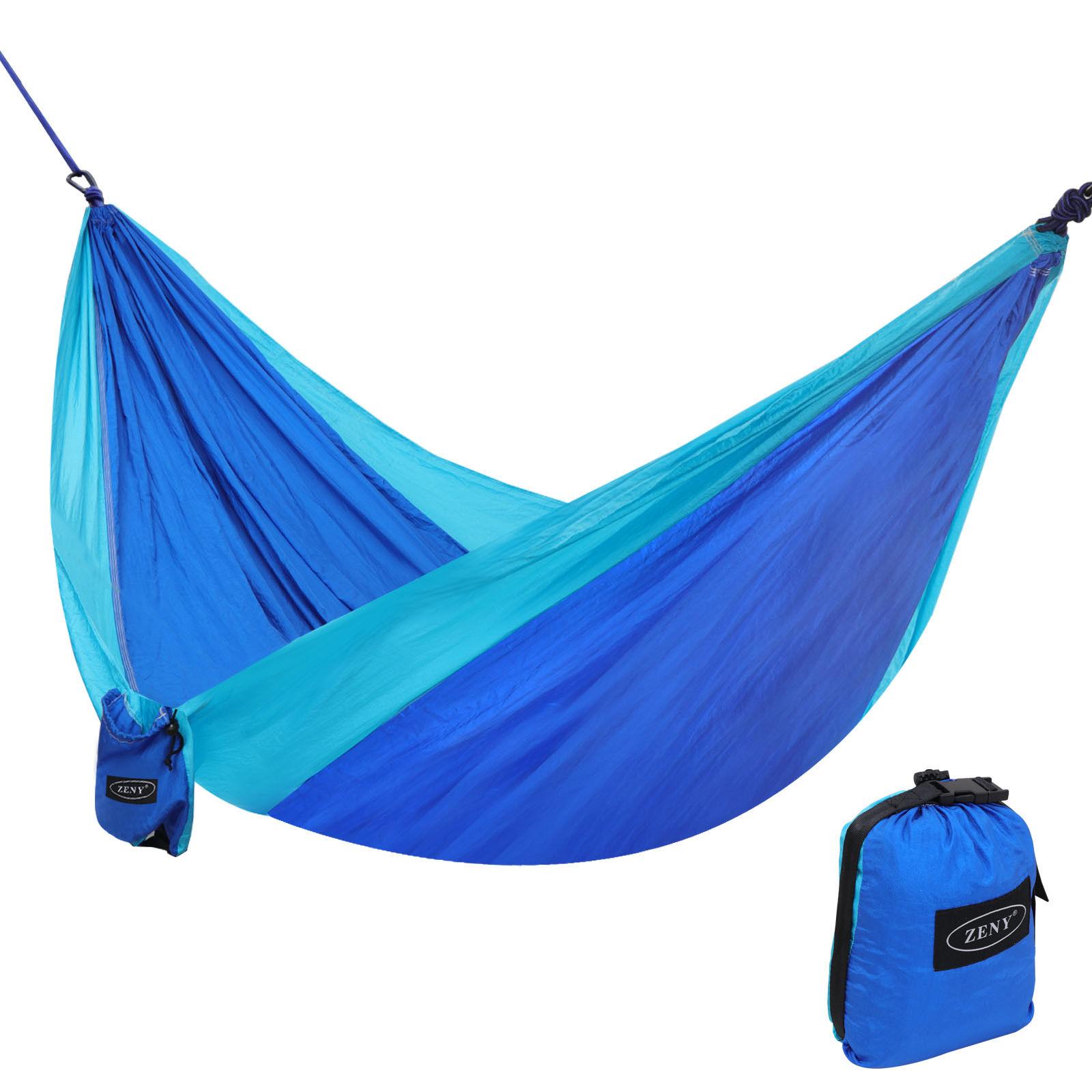 Zeny Portable Nylon Hammock Parachute Double Hanging Hammock For Camping,Backpacking,Travel,Beach,Yard
