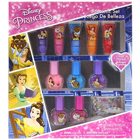 TownleyGirl Disney's Princess Beauty and the Beast Cosmetic Set with lip gloss, nail polish and nail - Beauty And The Beast Teapot Set