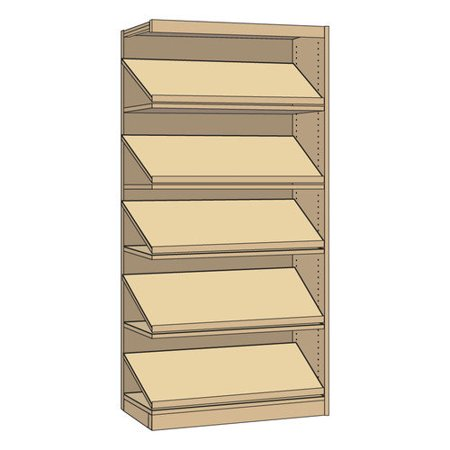 Single Faced Library Periodical Standard Bookcase - Virco Furniture Image