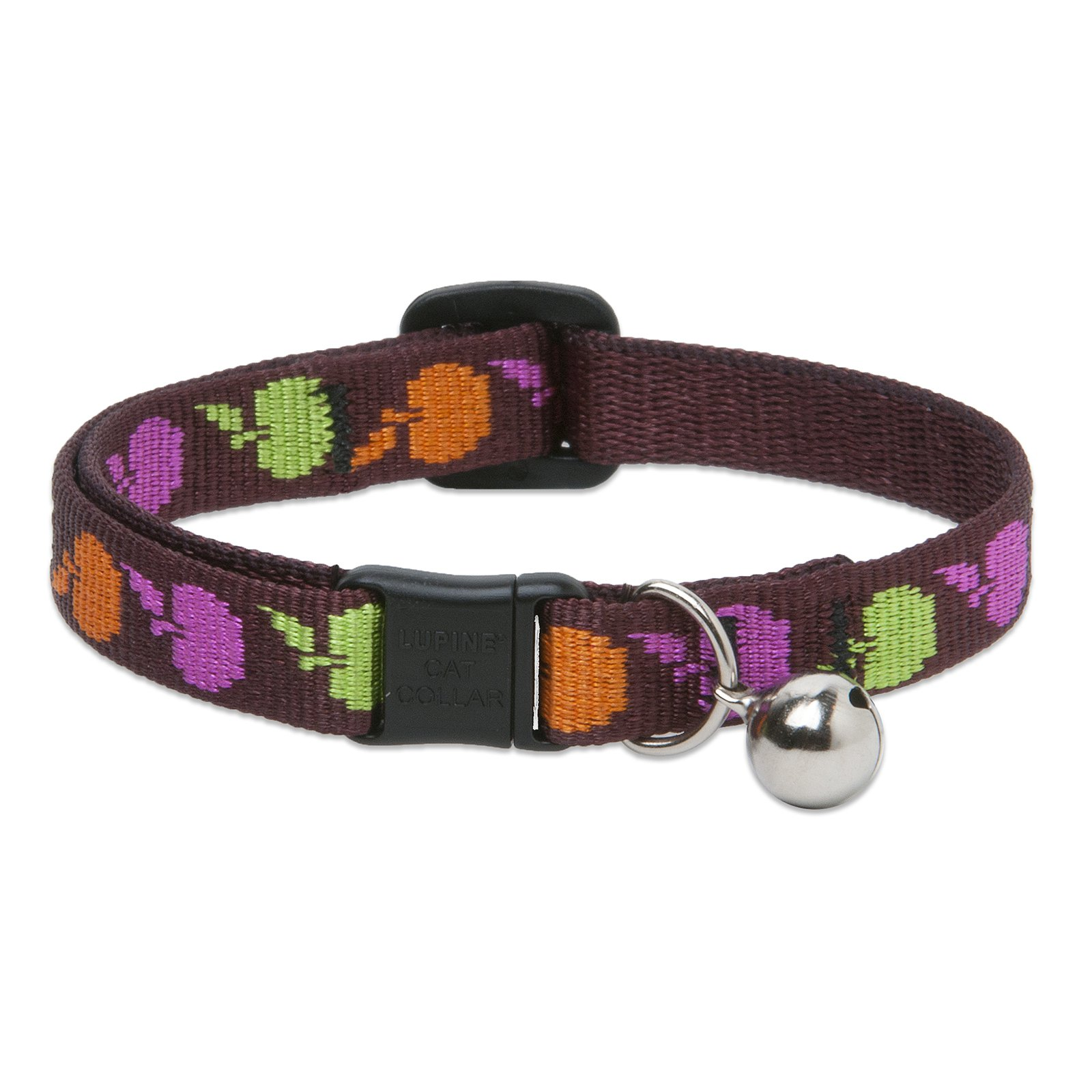 "Lupine Collars and Leads 20727 1/2"" x 8""-12"" Candy Apple Cat Collar"