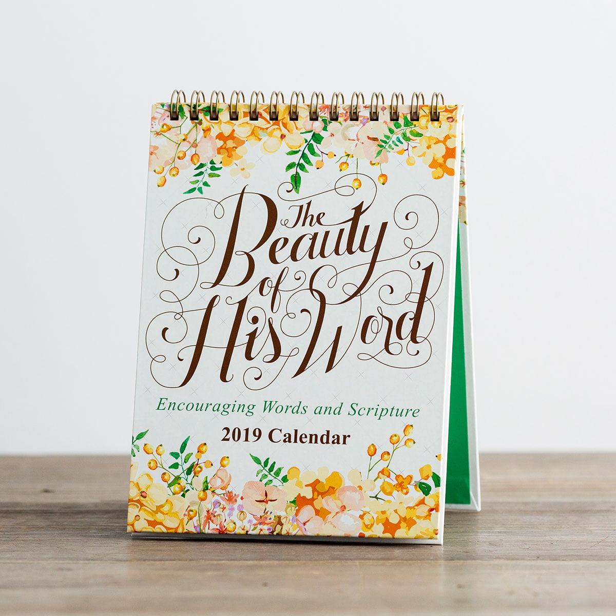 DaySpring  -  DaySpring - The Beauty of His Word - 2019 Desktop Calendar