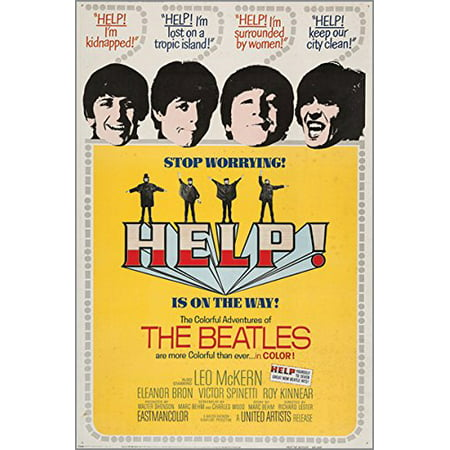 Help Vintage Movie Poster The Beatles Music 1965 Mccartney Lennon 24X36 Gem ()