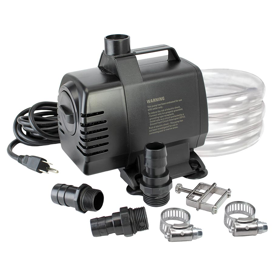 UL-listed, indoor/outdoor, 1650 GPH Pump Kit