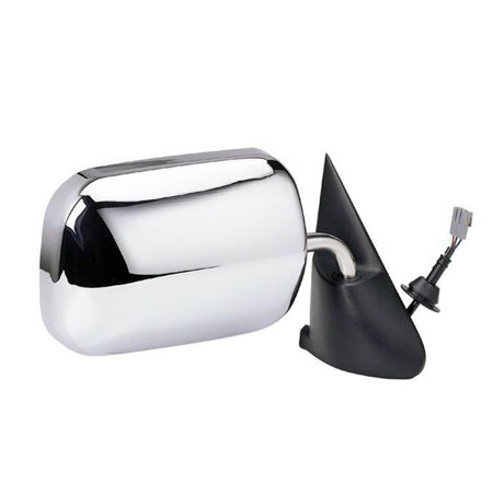 1987-1996 Dodge Dakota  Passenger Side Right Power Door Mirror, 6x9 Convex Glass with Manual Remote