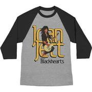 Joan Jett Men's  Jump Guitar Baseball Jersey Black/Heather