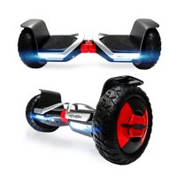 Hover-1 Beast UL Certified Electric Hoverboard w/ 10 in Off-Road Wheels, LED Lights, Bluetooth Speaker, and App Enabled