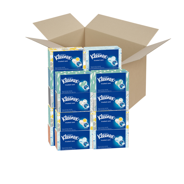 Kleenex Everyday Facial Tissue, 18 Flat Boxes