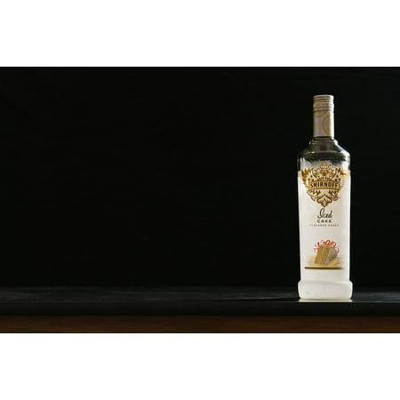 Canvas Print Alcohol Smirnoff Drinking Vodka Bottle Booze Stretched Canvas 10 x 14