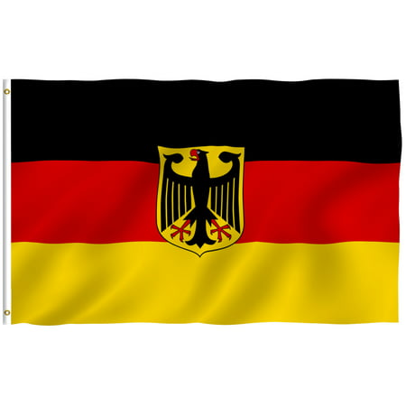 - ANLEY [Fly Breeze] 3x5 Foot German State Ensign Flag - Vivid Color and UV Fade Resistant - Canvas Header and Double Stitched - Germany Eagle Flags Polyester with Brass Grommets