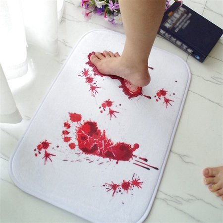 Directer Bathmat Scare Your Friends Bloody Footprint Bath Bathroom Mat Non-slip Rug
