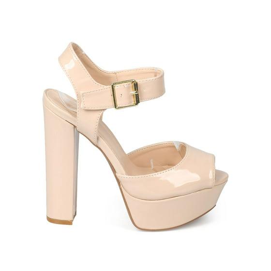 c482e7c95c99 Qupid - Qupid EA23 Women Patent Peep Toe Retro Block Heel Platform ...