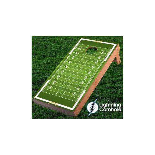 Lightning Cornhole Football Field Cornhole Board by