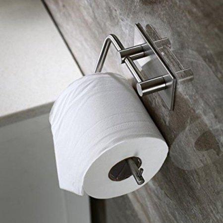 (ICOCO Paper Towel Rack Bathroom Hotel Lavatory Wall Mount Accessory Hanger Kitchen Racks Bath Towel Holder)