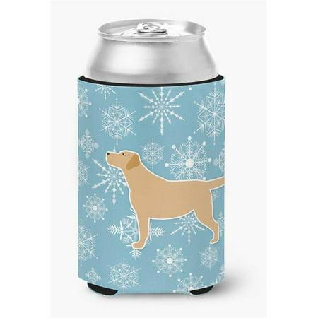 Winter Snowflake Black Labrador Retriever Can or Bottle Hugger - image 1 de 1