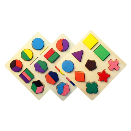 Wooden Puzzle Kindergarten Geometric Shape Puzzles Sorting Game Early  Development Educational Toys