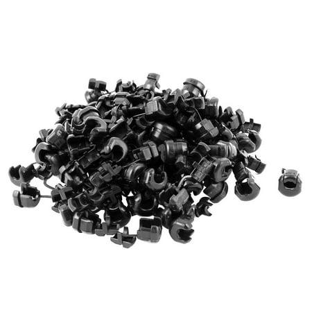 100 Pcs Serre-fil cable rond oeillet Bush noir Longueur 14.8 mm - image 1 de 1