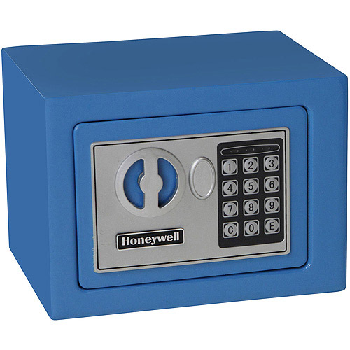 Honeywell 0.17 cu ft Small Security Safe, Blue