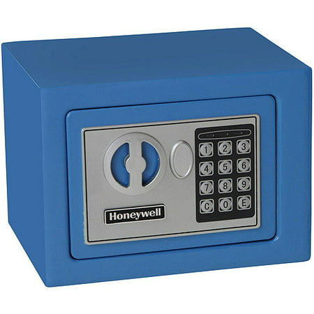 Honeywell 0.17 cu. ft. Steel Small Security Safe with Electronic Lock, 5005B Blue