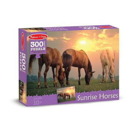 Melissa & Doug Sunset Horses Jigsaw Puzzle (300 pcs) - Horse Games And Puzzles