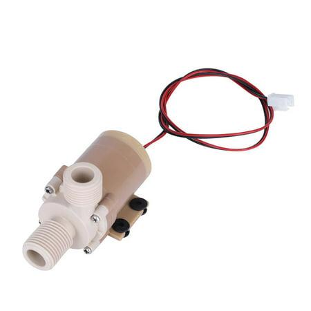 Hilitand Hot Circulation Water Pump 12V DC Solar 100℃ Hot Circulation Water Pump ()