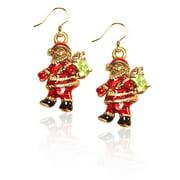 Whimsical Gifts 869G-ER Santa Claus Charm Earrings In Gold