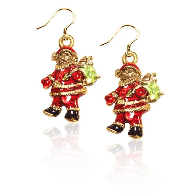 Whimsical Gifts 869G-ER Santa Claus Charm Earrings In Gold