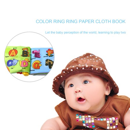 OUTAD Newborn Baby Cloth Book Children Kids Educational Toys Soft Polyester Toys multi-color mixed