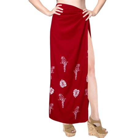 527e4400903c2 HAPPY BAY - HAPPY BAY Swimsuit Beach Cover ups Sarong Skirt Women Bathing  Wrap Pareo Red - Walmart.com