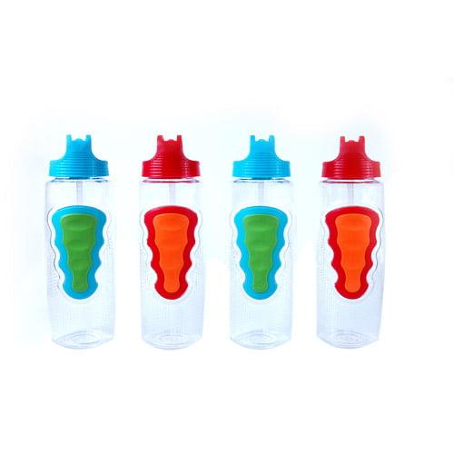 Cool Gear 32-Ounce Serpentine Water Bottles, Set of 4