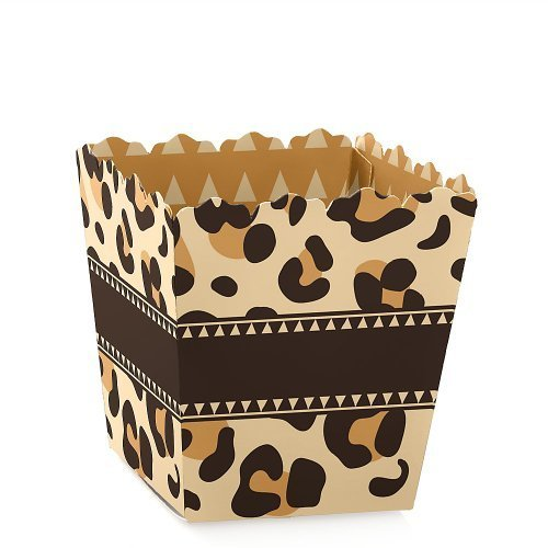 Leopard - Party Mini Favor Boxes - Baby Shower, Birthday or Bridal Shower Treat Candy Boxes - Set of 12