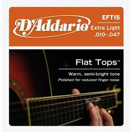 D'Addario EFT15 Flat Top PB Extra Light Acoustic Guitar Strings ()