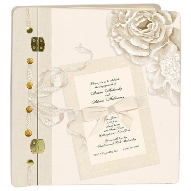 Lexington Studios 12056PC Journal Book Peonies Cream Large Photo Album by Lexington Studios