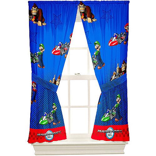 Super Mario Brothers Microfiber Curtain Panels, Set of 2