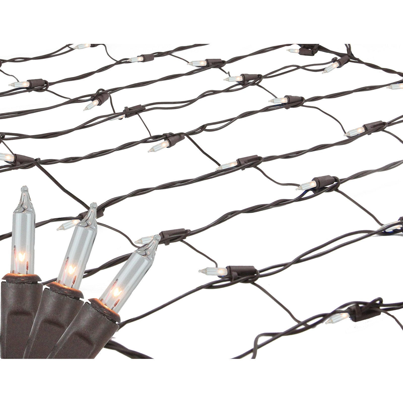 Northlight 150 ct. Mini Net Style Tree Trunk Wrap Clear Lights with Brown Wire