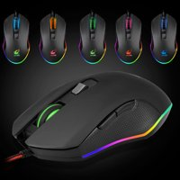 Wireless Gaming Computer Mouse, EEEkit 2.4GHz USB Optical Rechargeable Ergonomic LED Wireless Silent Mouse, 4 Adjustable DPI, 6 Buttons, Compatible with PC, Laptop, Notebook, Desktop(Black)