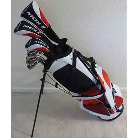 Senior Mens Complete Golf Set Right Handed Clubs Driver, Fairway Wood, Hybrid, Irons, Putter & Deluxe Stand Bag Superior Quality Senior Flex