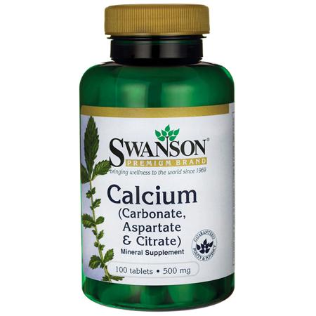 Calcium Citrate 100 Tabs (Swanson Calcium (Carbonate, Aspartate & Citrate) 500 mg 100)