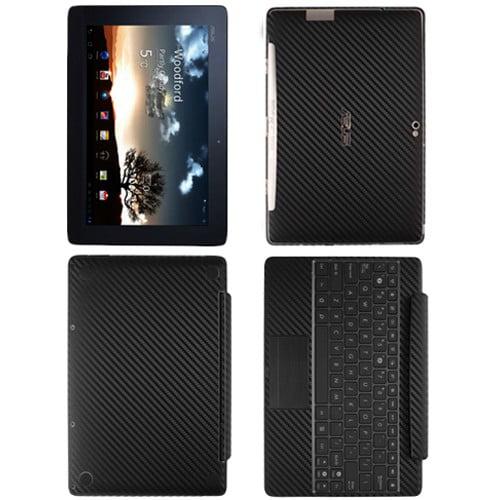 Skinomi Carbon Fiber Black Skin+SP for Asus EEE Pad Trans...