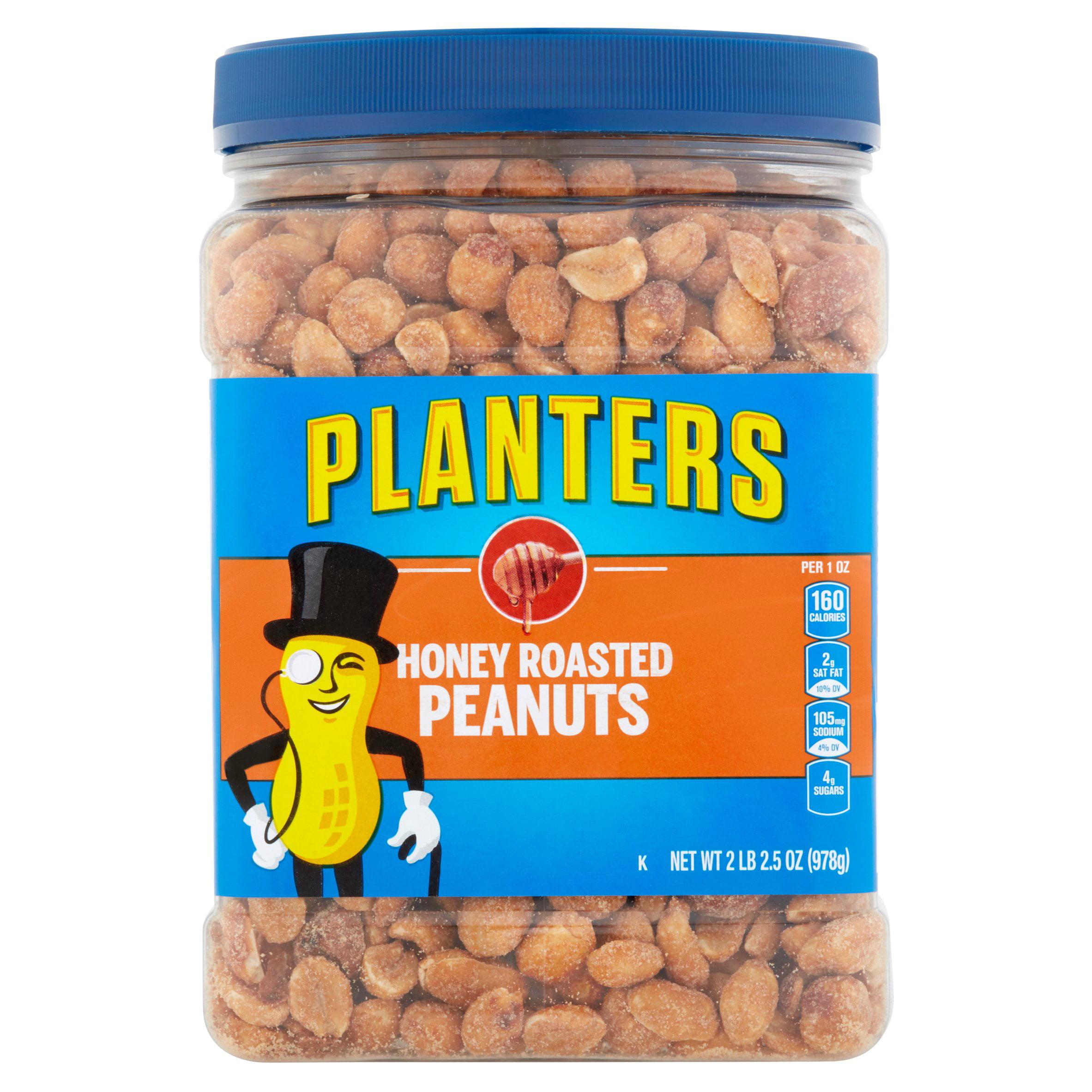 Planters Honey Roasted & Salted Peanuts Jar, 34.5 oz