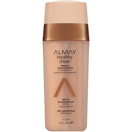 Healthy Glow Makeup & Gradual Self Tan, Light/Medium, #200 Light/Medium By Almay,USA