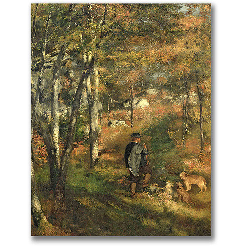 "Trademark Fine Art ""Jules Le Coeur in the Forest"" Canvas Wall Art by Pierre Renoir"