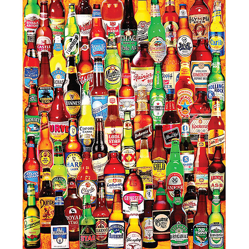 """Jigsaw Puzzle, 1000 Pieces, 24"""" x 30"""", 99 Bottles Of Beer On The Wall"""