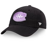 Montreal Canadiens Fanatics Branded Hockey Fights Cancer Slider Adjustable Hat - Black - OSFA