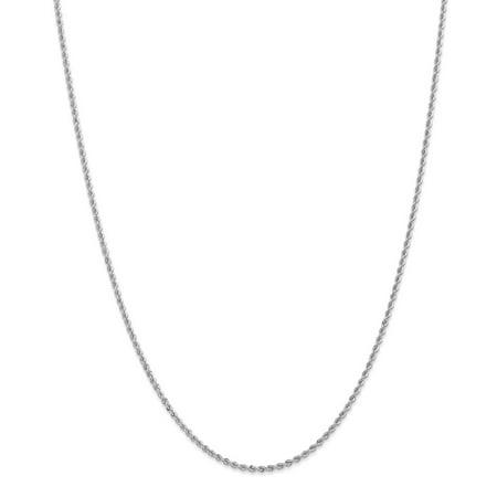 14k Solid Gold 2.0mm Handmade Regular Rope Chain Necklace Handmade Regular Rope Chain