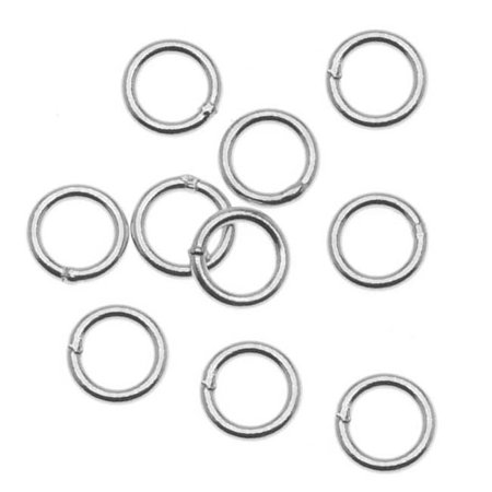 Sterling Silver Closed 5mm Jump Rings 21 Gauge (20) ()