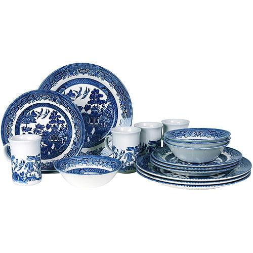 Blue Willow 16-Piece Dinnerware Set