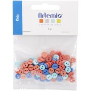 "Artemio Mini Round Buttons .28""-Kids"